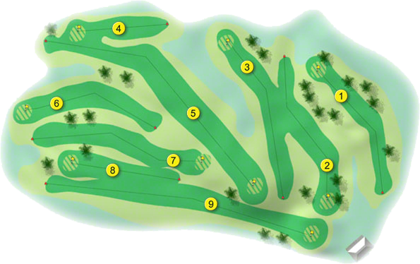 Tubbercurry Golf Course Layout