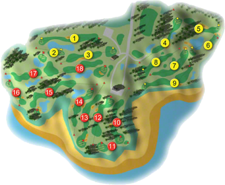 Tulfarris Golf Course Layout