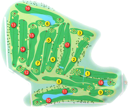 Westmanstown Golf Course Layout