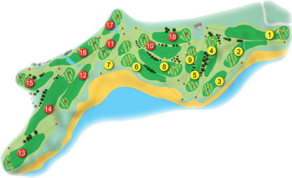 Wicklow Golf Course Layout